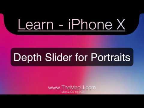 iPhone XS, XS Max, XR Depth Slider for Portrait Photos