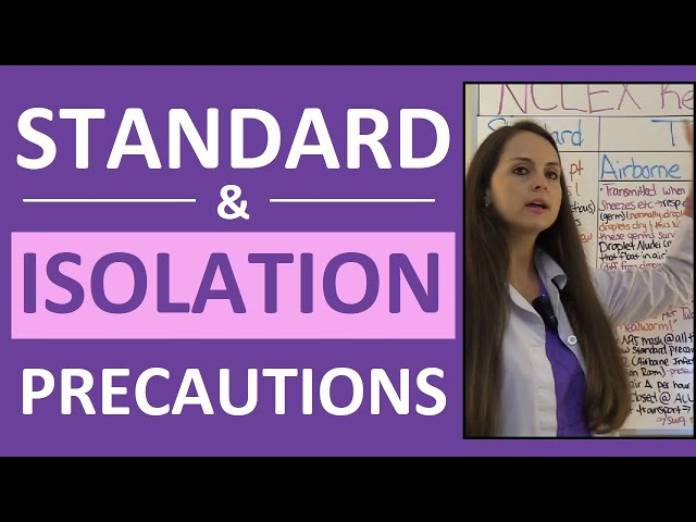Standard & Isolation Precautions Nursing | Infection Control Contact, Droplet, Airborne PPE NCLEX