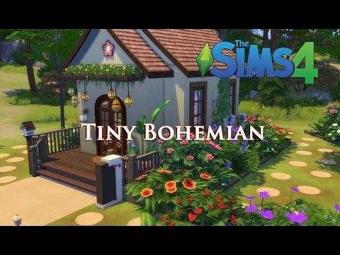 The Sims 4 - 6x6 Tiny Bohemian (Movie Hangout Stuff)  