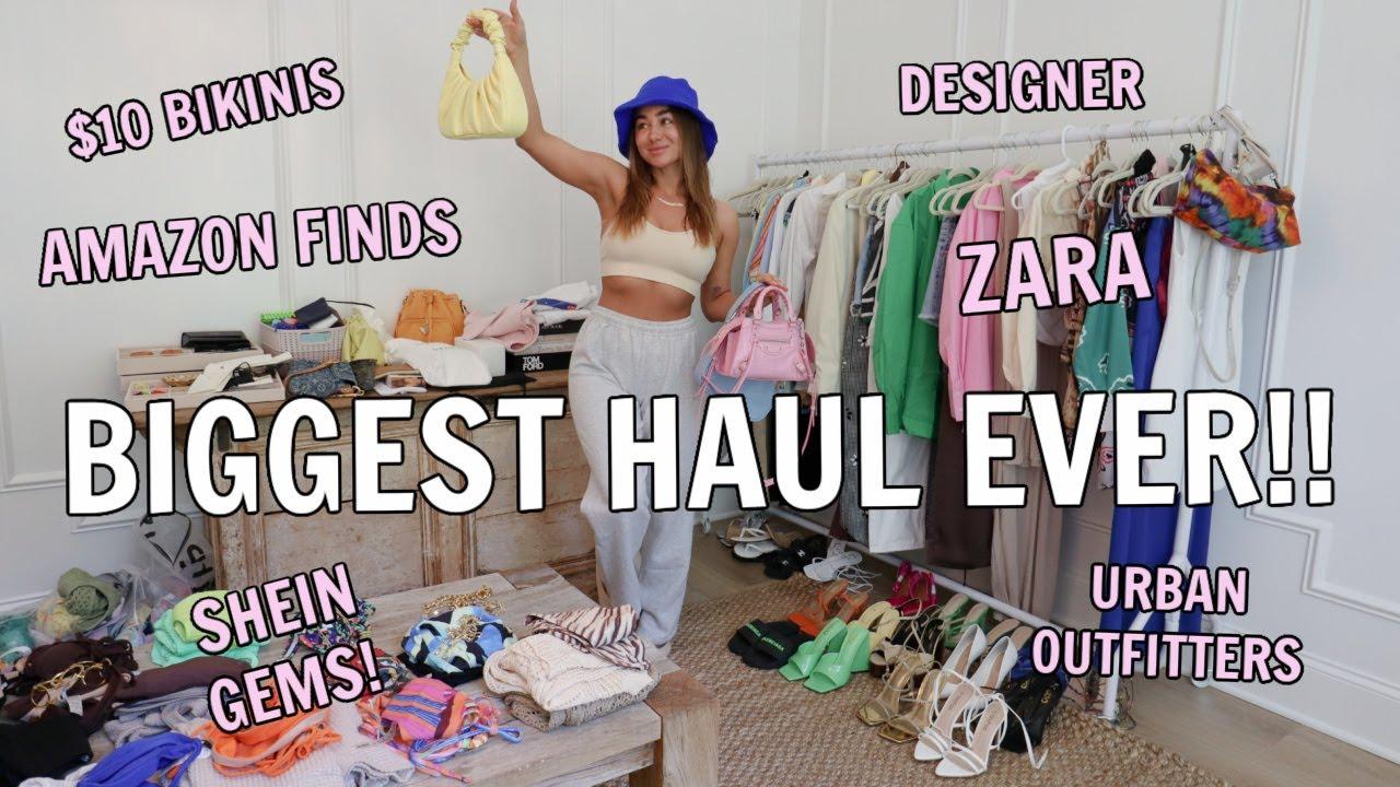 Download MASSIVE SUMMER HAUL! Amazon Designer Dupes, Shein, Zara, Urban Outfitters, Windsor   Julia Havens