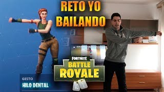 RETO YO HACIENDO LOS BAILES DE FORTNITE EN LA VIDA REAL (Backpack Kid, Electro Shuffle)