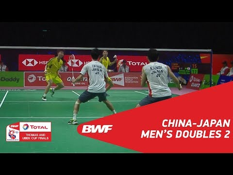 Thomas Cup Final   MD2   LI/LIU (CHN) vs SONODA/WATANABE (JPN)   BWF 2018