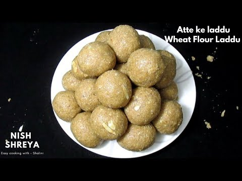 Atte Ke Laddu | Wheat Flour Laddu Recipe | Ayurvedic Wheat Flour Dry Fruits Sweet Balls