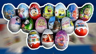 16 Surprise Eggs Opening Frozen Paw Patrol Trolls Cars Minions SpongeBob PJ Masks Barbie #195