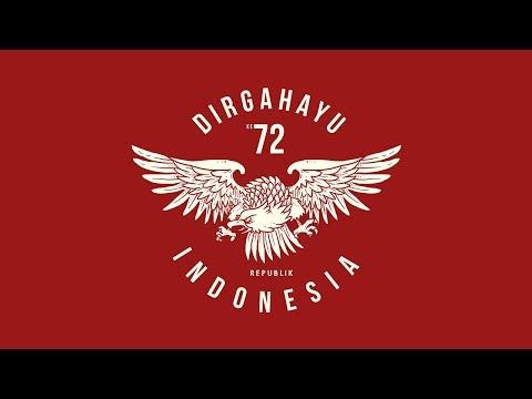 (SPEEDart) Badge HUT Ke 72 INDONESIA - Free Download PSD File