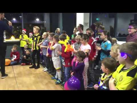 Community: Albion stars visit Junior Brewers party