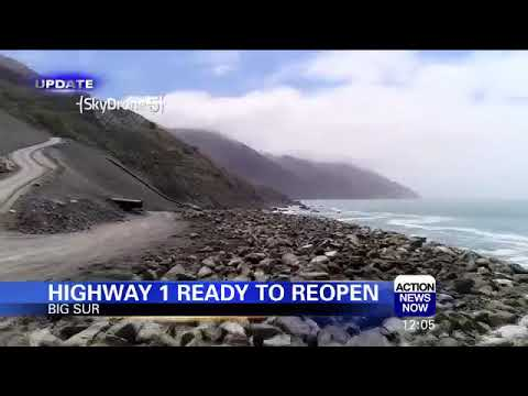 Highway 1 About to Reopen at Big Sur