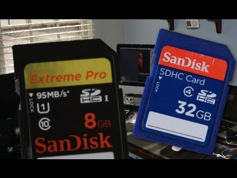 Does your type of an SD card matter? SDHC vs. SDHC 1