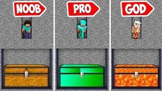Minecraft NOOB vs PRO vs HACKER vs GOD : THEY FOUND EMERALD AND MULTI LAVA CHEST UNDER THIS MINE