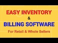 Easy Inventory Billing Software For Retail Shops and Whole Sellers