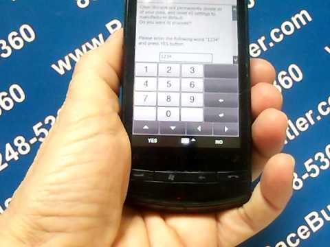 HTC Pure - Erase Cell Phone Info - Delete Data - Master Clear Hard Reset