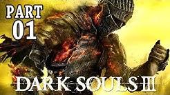 Dark Souls 3 Gameplay German PS4 Part 1 - 1 Boss, mein Charakter - Let's Play Dark Souls 3 Deutsch