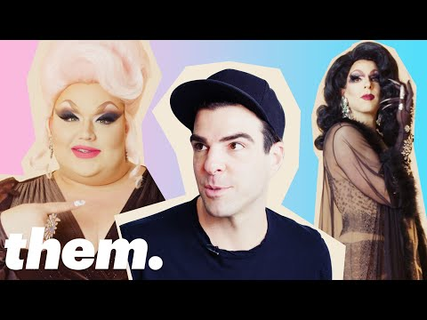 Eureka O'Hara Gives Zachary Quinto a Drag Makeover  them.