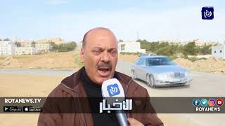 التشققات تعيق الطريق بين بلدتي زحوم والمنشية في الكرك - (18-2-2018)