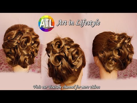 #Art in Hairstyle #Hairstyle for #Wedding and Party #DIY #Bridal Hairstyle thumbnail