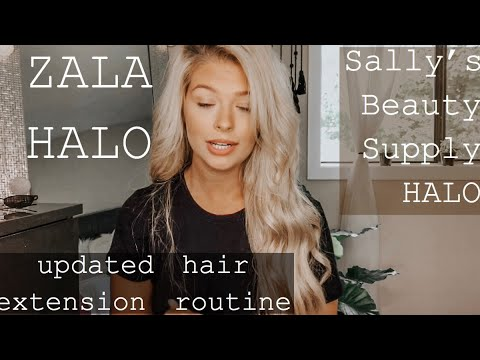 Hair Extension Routine | ZALA HALO | Satin Strands Halo from Sally's REVIEW