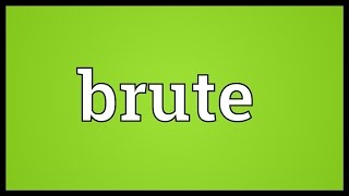 Brute Meaning
