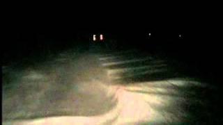 mit dem lint in der nacht bei sturm durch den schnee teil 1