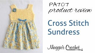 Cross Stitch Sundress Crochet Pattern Product Review Pa707