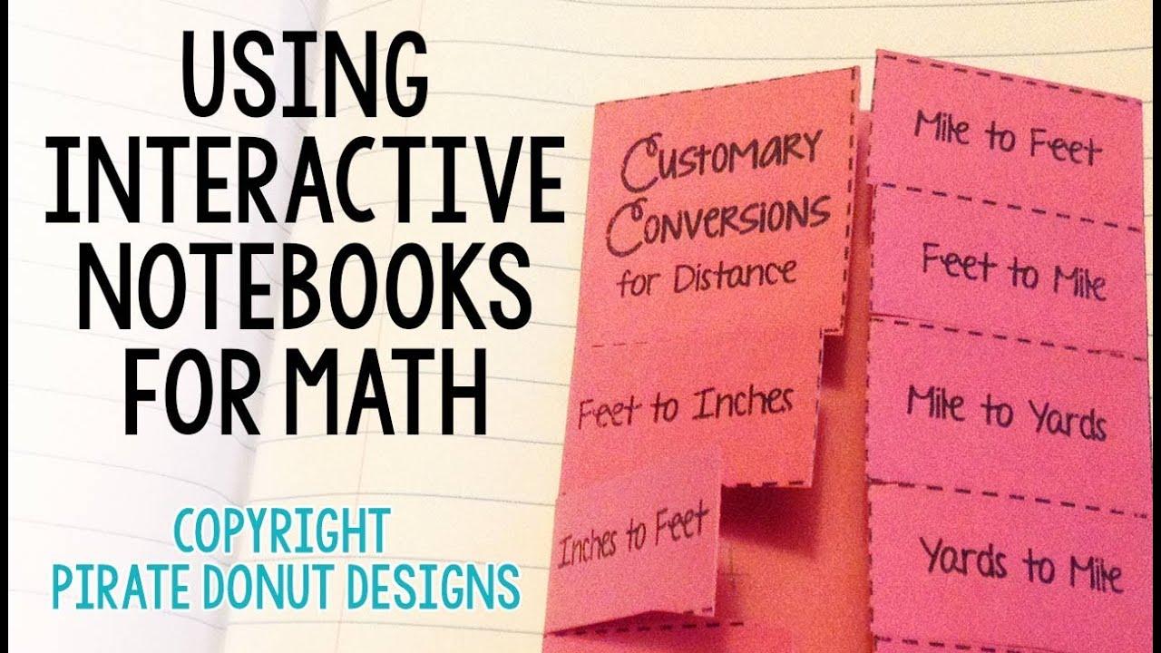 Interactive Math Notebook from 4MulaFun - YouTube