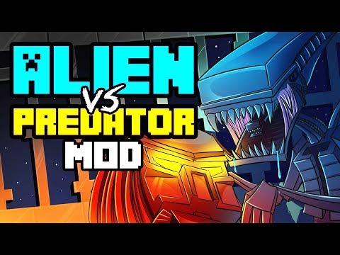 minecraft-|-alien-vs-predator-mod-showcase!-(futuristic,-aliens,-marines,-nukes)