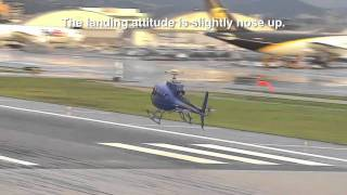 AS350 Autorotation Touchdown