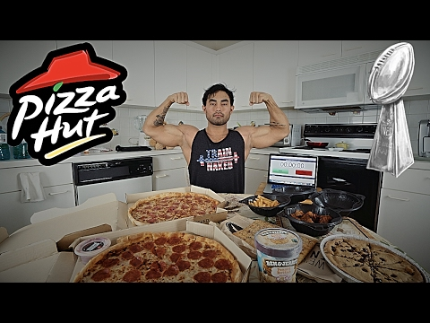 PIZZA HUT SUPER BOWL PARTY SPECIAL CHALLENGE | 10,060 CALORIES