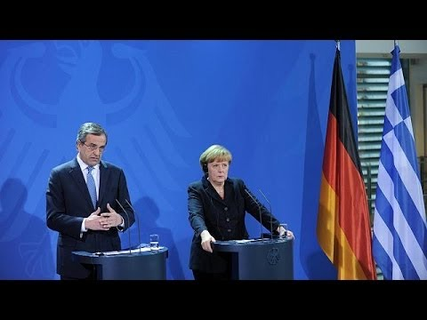 Greek economy on track Samaras tells Angela Merkel - economy