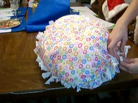 how to make a homemade pillow - YouTube