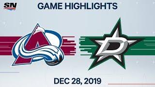 NHL Highlights   Avalanche vs. Stars - Dec. 28, 2019