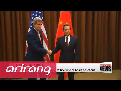 U.S. Secretary of State in Beijing to discuss N. Korea sanctions