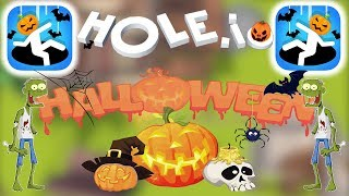 Hole.io - Gameplay - Special Halloween Update - New Skins - (iOS - Android)
