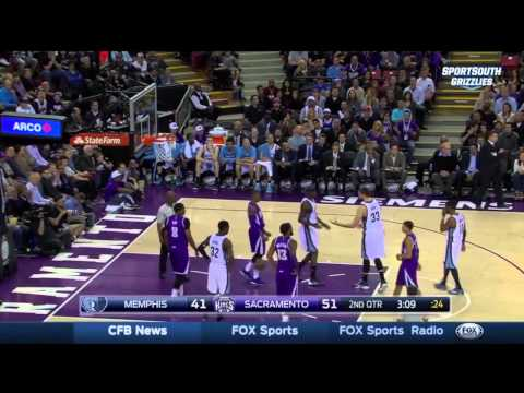 DeMarcus Cousins & Zach Randolph FIGHT | Grizzlies vs Kings | Feb 23, 2015 | NBA 2014-15 Season