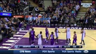 DeMarcus Cousins & Zach Randolph FIGHT   Grizzlies vs Kings   Feb 23, 2015   NBA 2014-15 Season