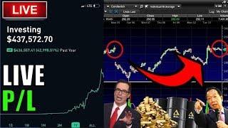 STOCKS GAP DOWN 800 POINTS!!!!!  – Live Trading, Robinhood...