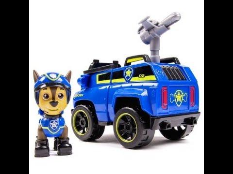 paw patrol pat patrouille chase et son camion de police espionnage figurines jouets pour les. Black Bedroom Furniture Sets. Home Design Ideas
