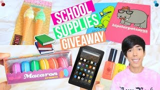 Back to School Supplies Haul 2016 + GIVEAWAY!!