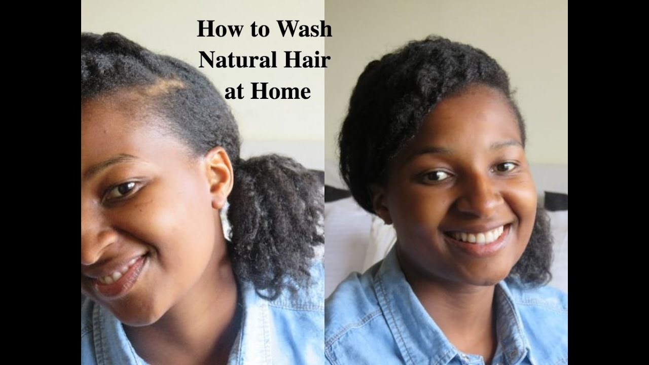 how to wash your hair at home
