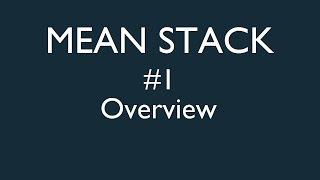MEAN Stack Tutorials
