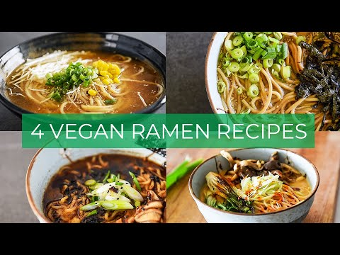 4 VEGAN RAMEN RECIPES | EASY BROTHS TO MAKE