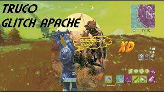 Fortnite tricks ; The apache glitch or superman