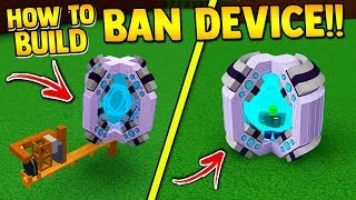 How to make the BAN DEVICE ITEM!! 🚨 | Build a boat for Treasure ROBLOX