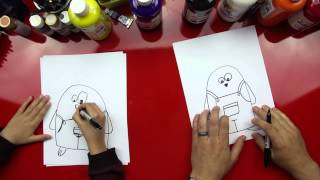 How To Draw The Easter Bunny Cartoon