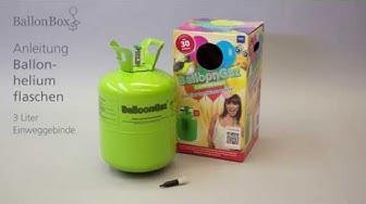 Heliumflaschen 3 Liter Anleitung, Ballon Box AG