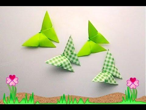 Origami butterfly 3 (พับกระดาษ ผีเสื้อง่ายๆ น่ารัก 3)