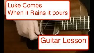 Luke Combs - When It Rains It Pours beginner guitar lesson