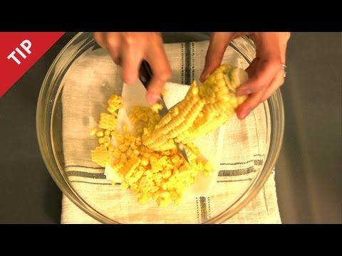 Download How to Cut Corn Off the Cob - CHOW Tip Images