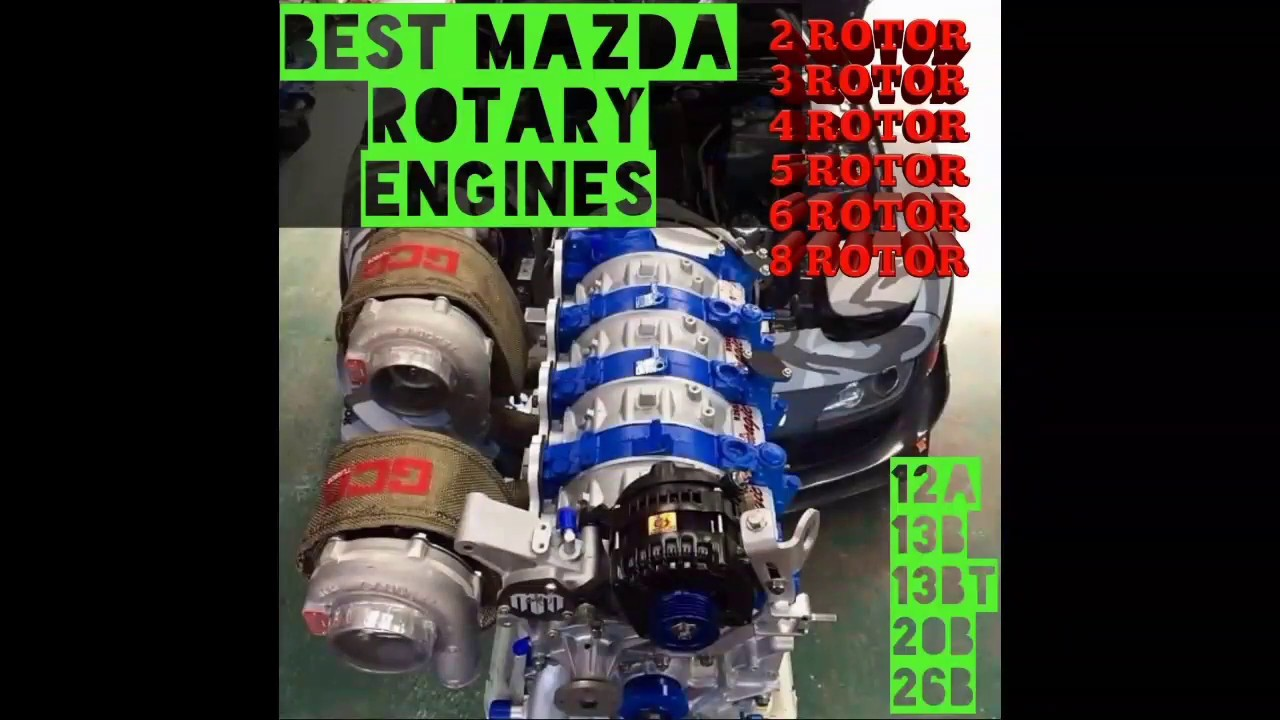 Best mazda rotary engine sounds and swaps 13b 20b 26b