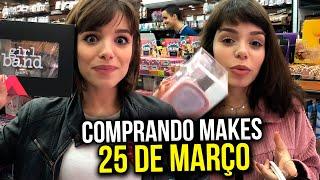 COMPRANDO MAKE na 25 DE MARÇO com MINHA IRMÃ!