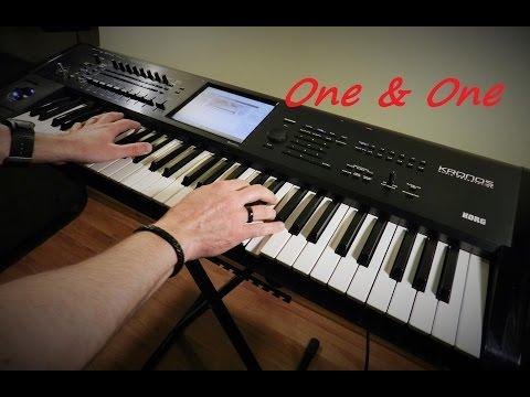 Edyta Górniak / Robert Miles - One & One - Instrumental with lyrics - Piotr Zylbert on Korg Kronos